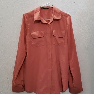 Maurices lightweight coral blouse
